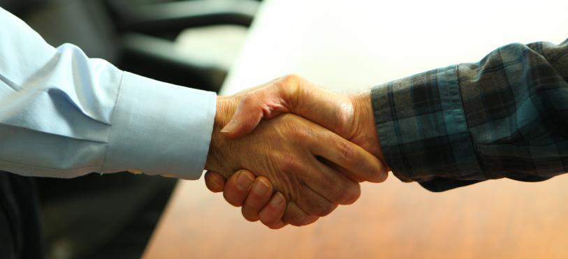 handshake markers of trust