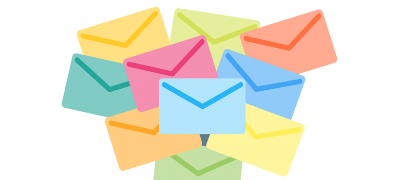 Email Marketing represented by Pastel Email Messages