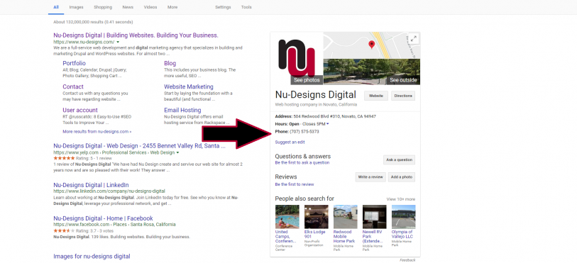 Nu-Designs helps you figure out how to show in Google's Knowledge Pane