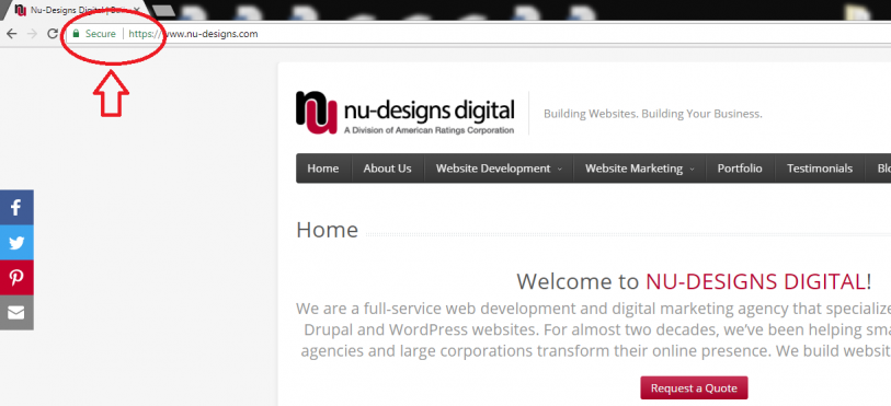 Nu-Designs encourages to switch your site to HTTPS everywhere