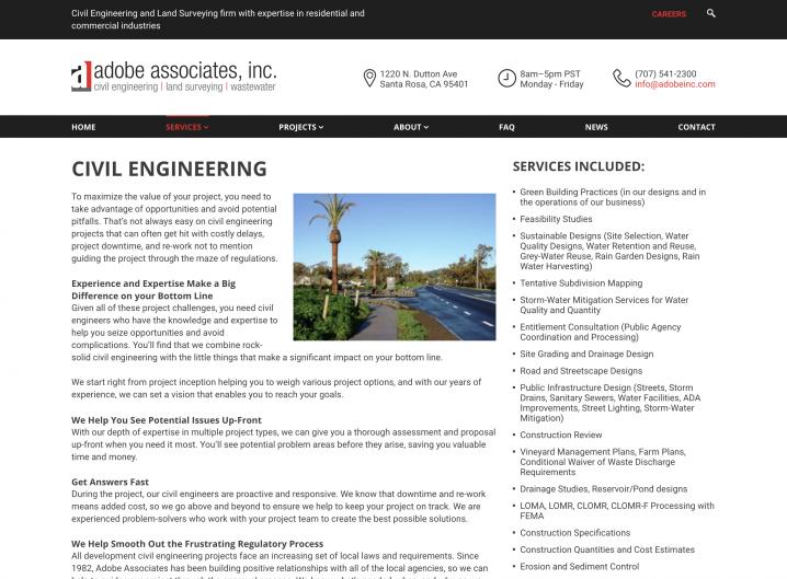 Adobe Inc. Service page