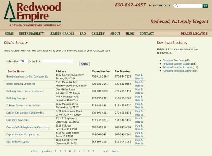 Redwood Empire - Dealer Locator