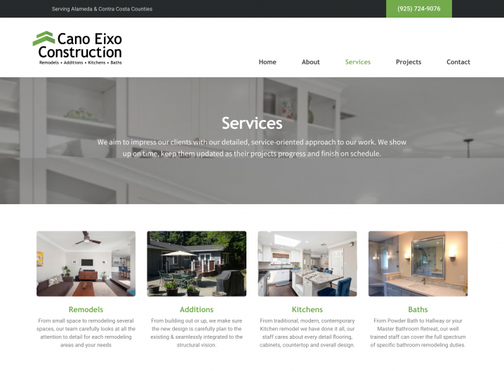 Cano Eixo Construction Services overview