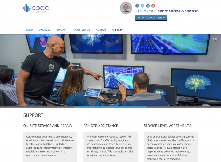 Coda Technology Support page