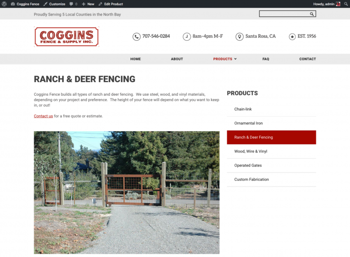 Coggins Fence product detail