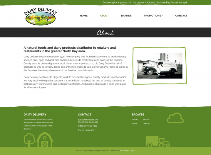 Dairy Delivery About page
