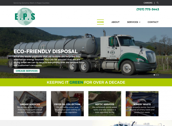 Environmental Pump Services homepage