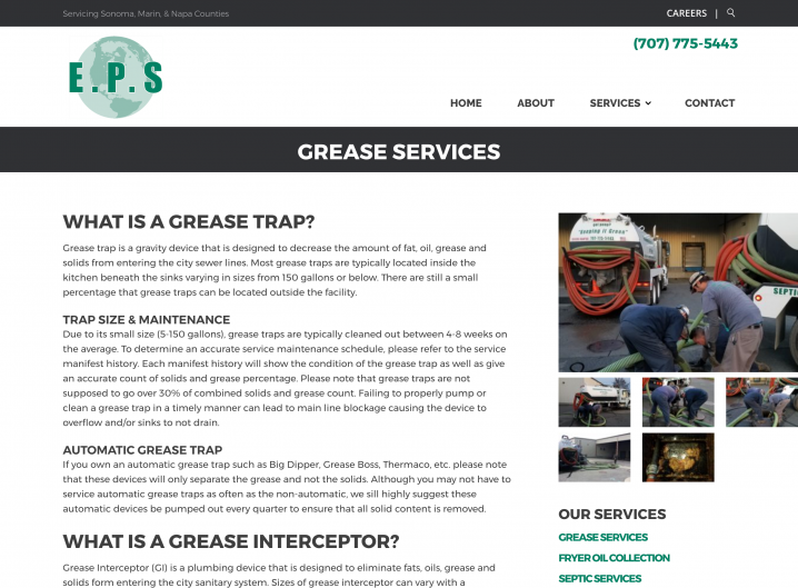 Environmental Pump Services service detail page