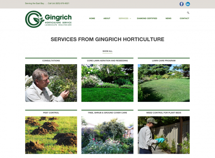 Gingrich Horticulture service overview page