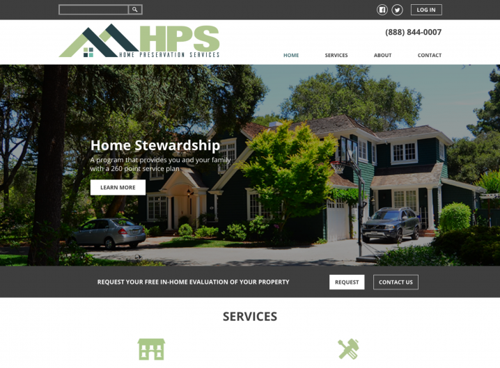 Home Preservation Services home page