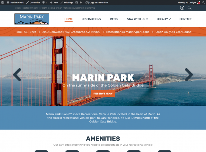 Marin Park Homepage