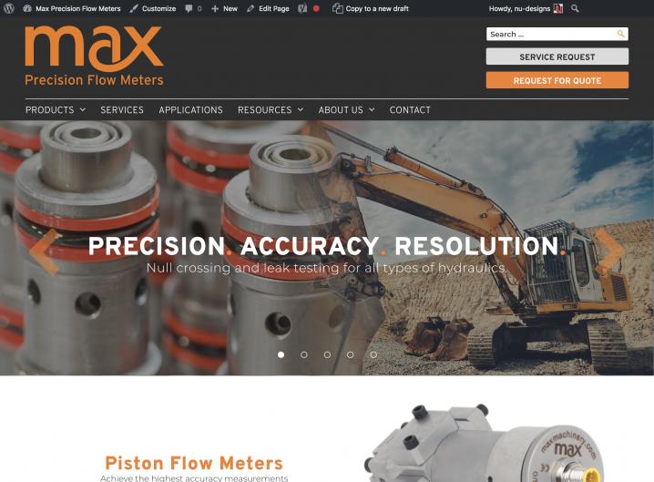 Max Machinery homepage