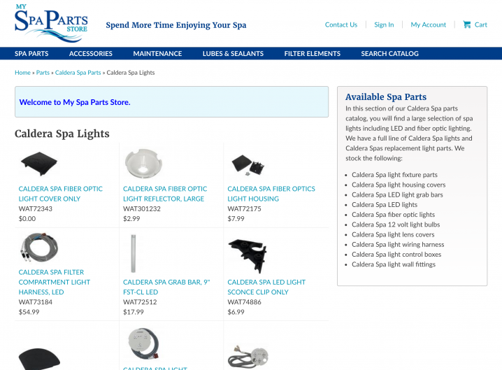 Store Category page