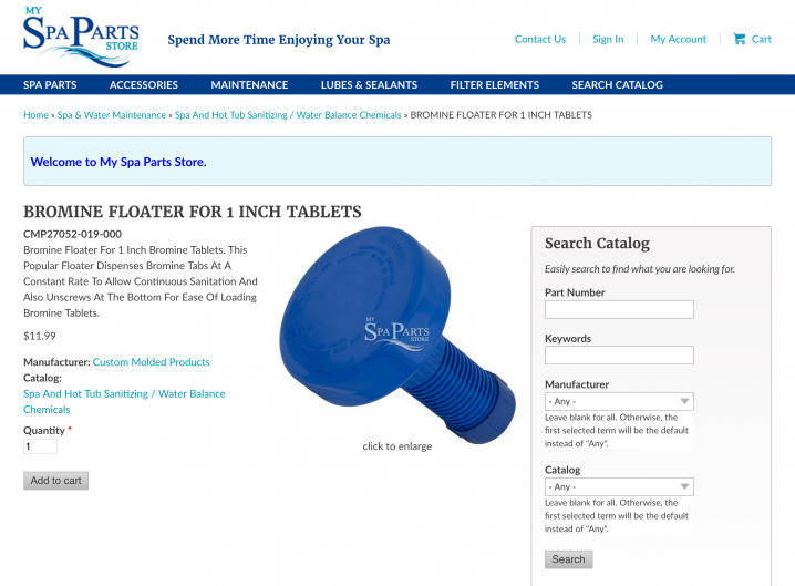 Store Detail page