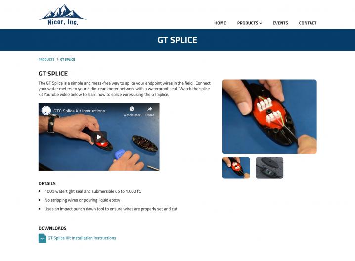 Nicor Inc. product detail page
