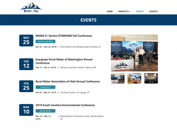 Nicor Inc. events page