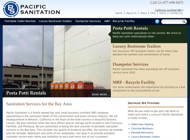 Pacific Sanitation - Home page
