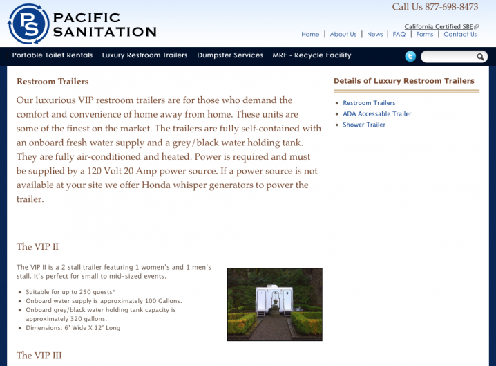 Pacific Sanitation - Services