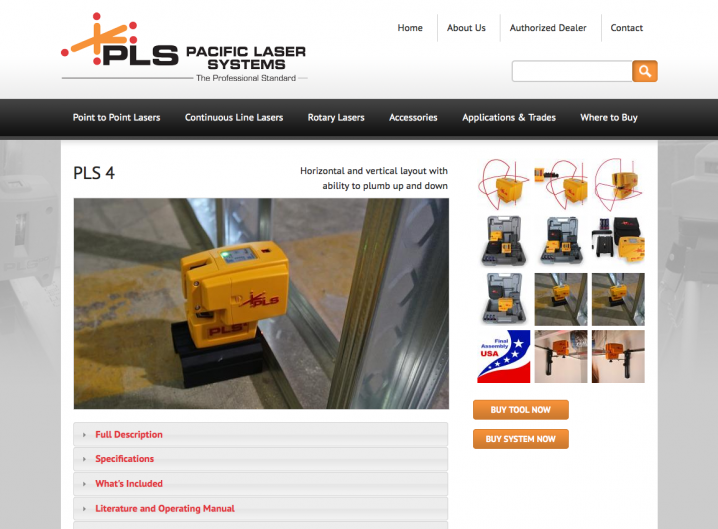 Pacifici Laser Systems - Product detail