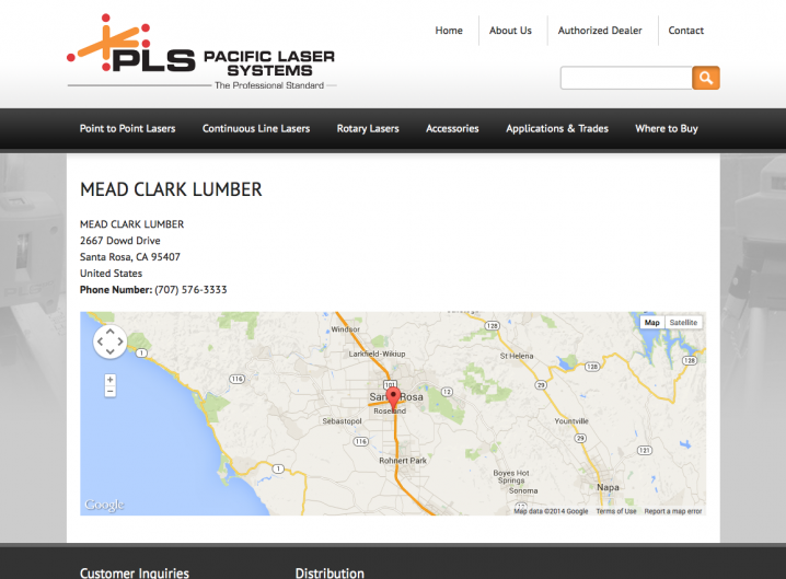 Pacifici Laser Systems - Dealer detail