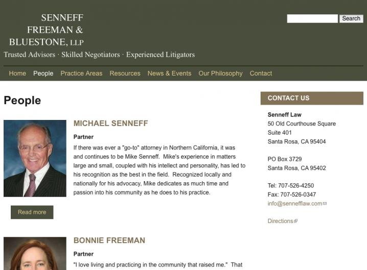 Senneff Freeman & Bluestone Law - People