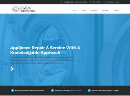 FixEm Appliance Repair homepage