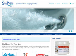 My Spa Parts Store Home page